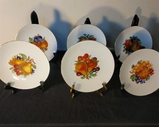 6 Fruit Design Jahra Bareuther Waldsassen Bavarian Germany Plate handpainted