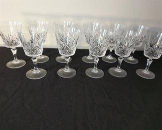 11 Crystal wine goblets