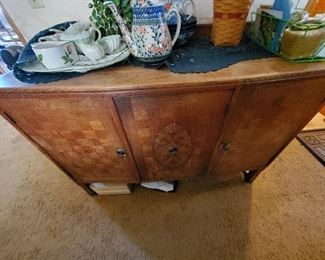 DINING ROOM SIDE BOARD BUFFET. STORE YOUR SERVING PIECES, CHINA, FLATWARE, LINENS