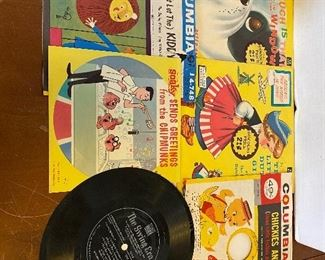 $8.00 Group of children's vintage records