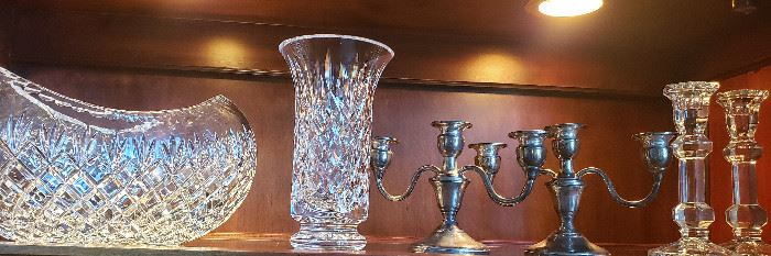 Waterford crystal, candleabra
