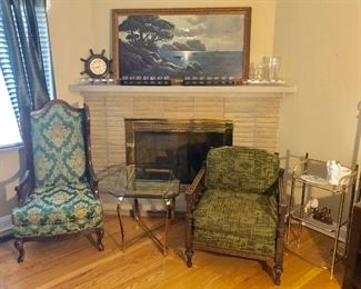 Great Chairs, 1 of 2 Glass Top Table & Decor