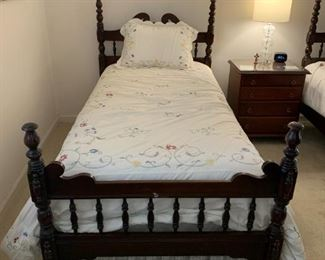 #1	Bed	Twin Mahogany Headboard/Footboard Bed  $120 each	 $240.00