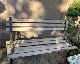 """#92Metal/Wood Park Bench  47"""" wide $30.00"""