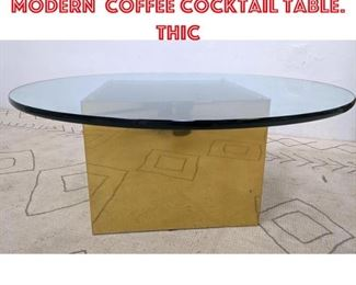 Lot 2004 HABITAT Mid Century Modern Coffee Cocktail Table. Thic