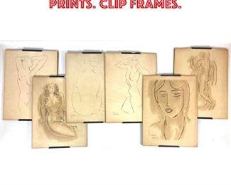 Lot 2007 6pcs HENRI MATISSE Prints. clip frames.