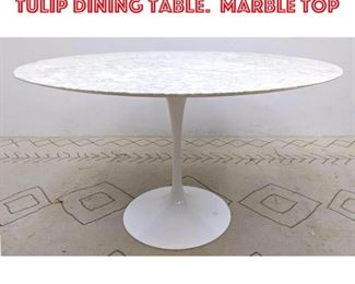 Lot 2012 Eero Saarinen for KNOLL Tulip Dining Table. Marble top