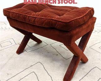 Lot 2013 Decorator Upholster x Base Bench Stool.