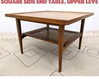 Lot 2017 DECLARATION by DREXEL Square Side End Table. Upper leve