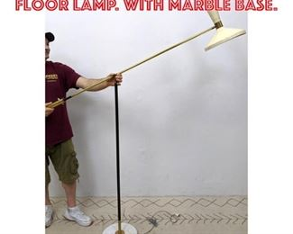 Lot 2027 Italian Counterbalance Floor Lamp. with marble base.