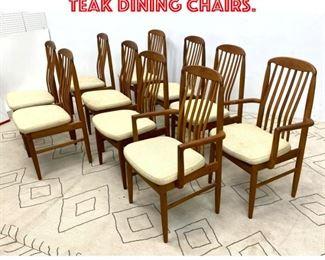 Lot 2028 set 10 Danish Modern Teak Dining Chairs.