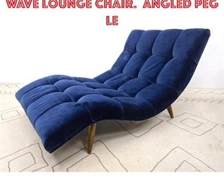 Lot 2030 Adrian Pearsall Style Wave Lounge Chair. Angled Peg Le