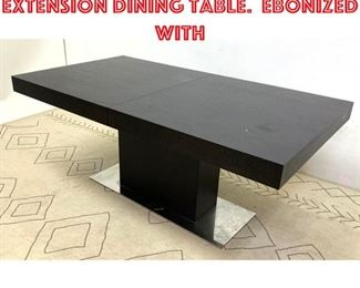 Lot 2032 Designer Modern Extension Dining Table. Ebonized with