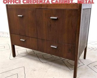Lot 2037 Jens Risom Style Small Office Credenza Cabinet. Metal