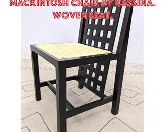 Lot 2039 CHARLES RENNIE MACKINTOSH Chair by Cassina. Woven seat.