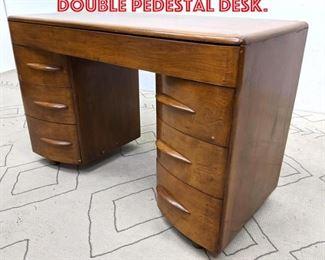 Lot 2043 Heywood Wakefield Double Pedestal Desk.