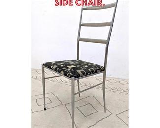 Lot 2045 Gio Ponti Style Chrome Side Chair.