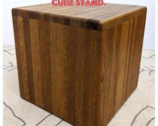 Lot 2047 Modernist Oak Cube Stand.