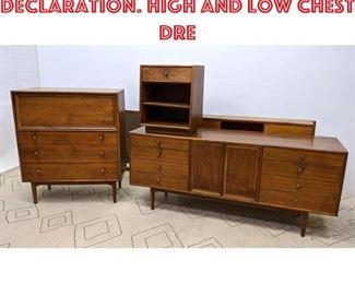 Lot 2052 DREXEL Bedroom Set. Declaration. High and Low chest dre