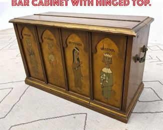 Lot 2053 Decorative 4 Seasons Bar Cabinet with Hinged Top.