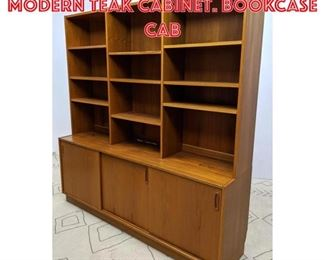 Lot 2057 Large ART FURN Danish Modern Teak Cabinet. Bookcase cab