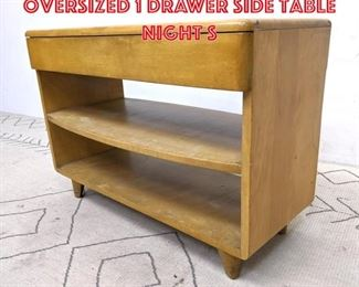 Lot 2064 Heywood Wakefield oversized 1 Drawer Side Table night S