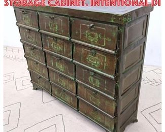 Lot 2066 Industrial Design Style Storage Cabinet. Intentional di