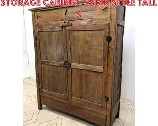 Lot 2070 Large Rustic 2 Door Storage Cabinet. Asian style Tall S