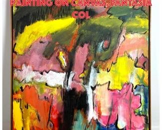 Lot 2075 MARLENE BREMER Acrylic Painting on Canvas. FANTASIA Col