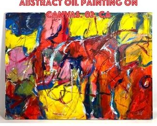 Lot 2076 MARLENE BREMER Abstract Oil Painting on Canvas. 02. CA