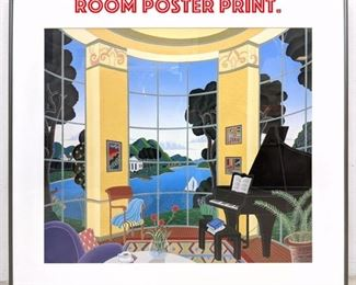 Lot 2077 THOMAS McKNIGHT Music Room Poster Print.