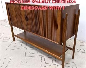 Lot 2086 DREXEL American Modern Walnut Credenza Sideboard with T