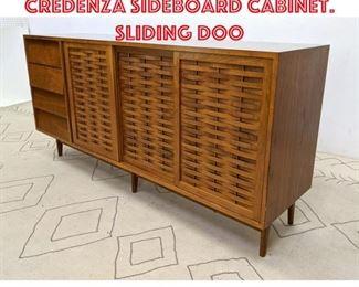 Lot 2087 THE BUCHNER Co. Credenza Sideboard Cabinet. Sliding doo