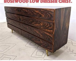 Lot 2088 Danish Modern Rosewood Low Dresser Chest.