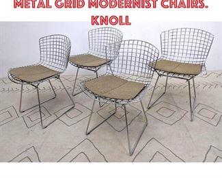 Lot 2090 Set 4 HARRY BERTOIA Metal Grid Modernist Chairs. Knoll