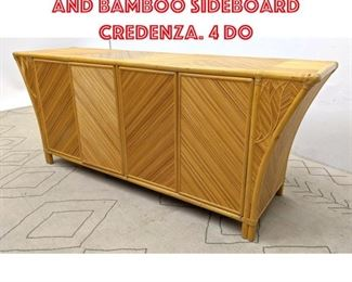 Lot 2094 Miami Modern Rattan and Bamboo Sideboard Credenza. 4 Do