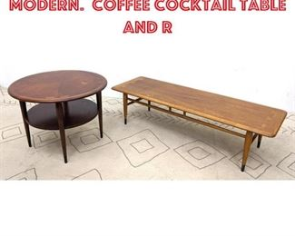 Lot 2096 2pcs LANE American Modern. Coffee Cocktail table and r