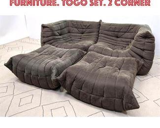 Lot 2100 4pcs LIGNE ROSET Living Furniture. TOGO set. 2 Corner