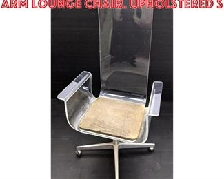 Lot 2103 Tall Back Lucite Swivel Arm Lounge Chair. Upholstered s