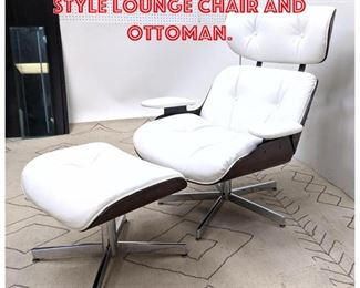 Lot 2104 Contemporary EAMES Style Lounge Chair and Ottoman.