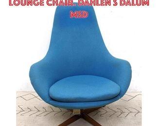 Lot 2106 Swedish Modern Swivel Lounge Chair. DAHLEN s DALUM Msd