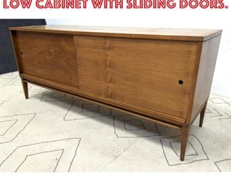 Lot 2122 Paul McCobb Attributed Low Cabinet with Sliding Doors.