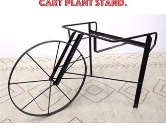 Lot 2143 Decorative Iron Flower Cart Plant Stand.