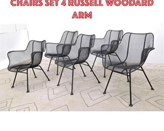 Lot 2149 Set 5 RUSSELL WOODARD Chairs Set 4 RUSSELL WOODARD Arm