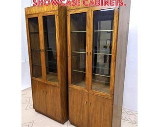 Lot 2151 Pair Glass Door Display Showcase Cabinets.