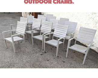 Lot 2152 Set 14 Gray Finish Metal Outdoor Chairs.