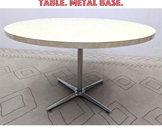 Lot 2153 Round Dinette Dining Table. Metal base.