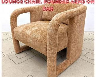 Lot 2159 Fully Upholstered Arm Lounge Chair. Rounded arms on bar