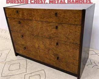 Lot 2162 CENTURY Art Deco Style Dresser Chest. Metal Handles.