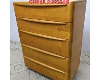 Lot 2165 Heywood Wakefield Tall Chest Dresser.